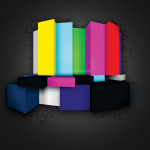 3D Color Bar Designed for Business Card