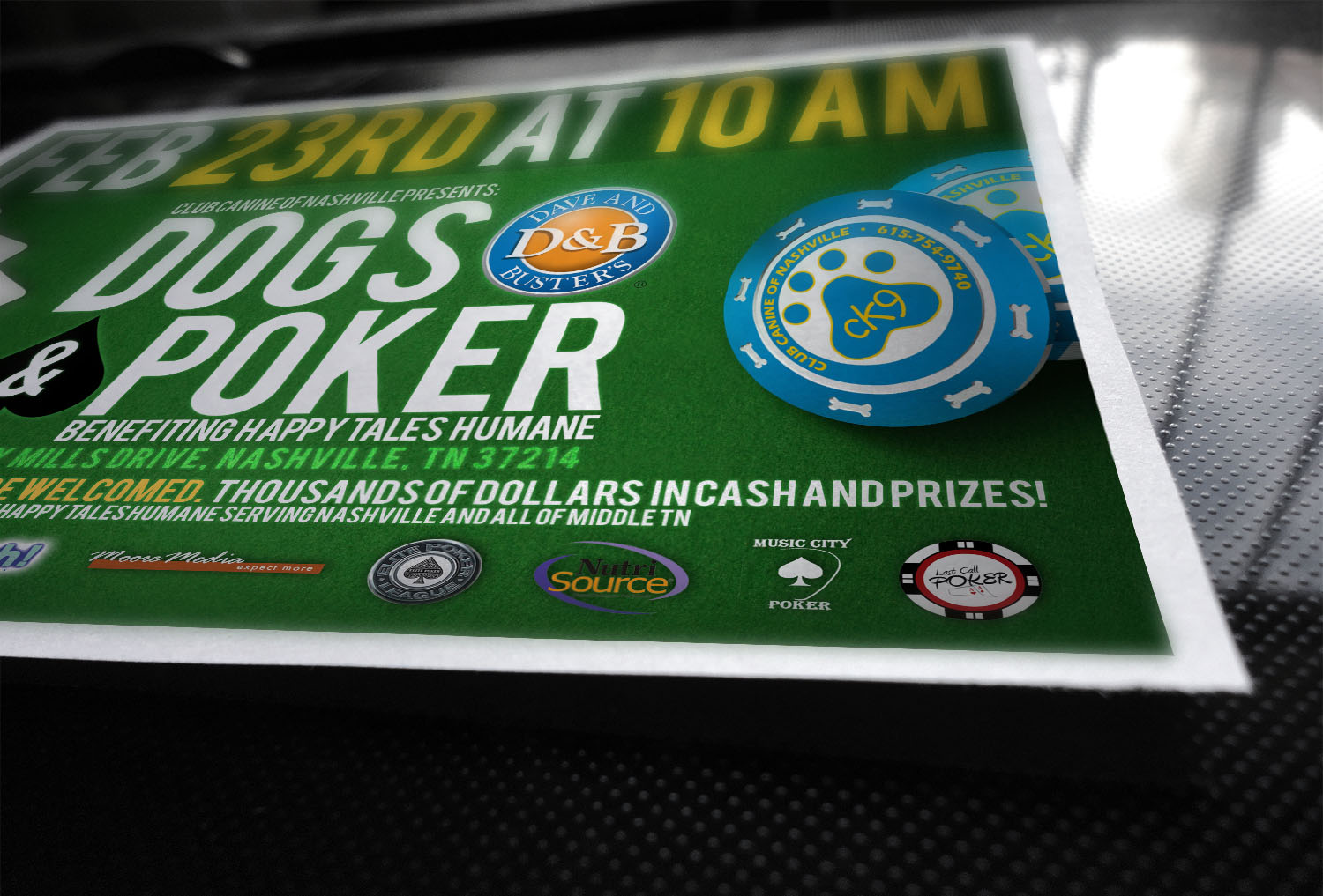 Dogs and Poker Flyer